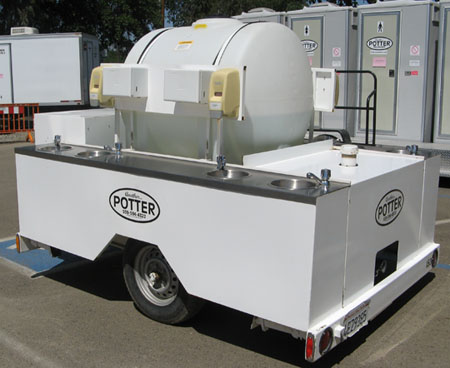 8 Sink Hot Water Trailer
